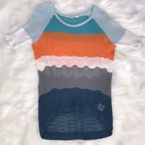 Moth by Anthropologie Striped Knit Sweater
